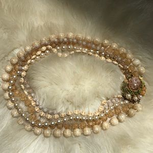 Beautiful vintage faux pearl costume jewelry.